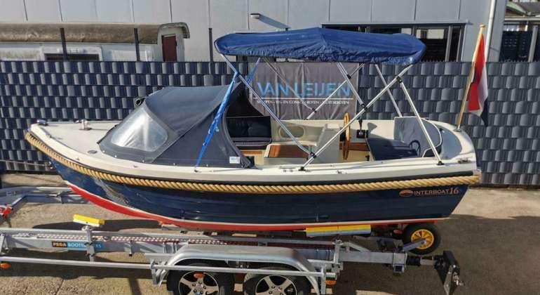 Interboat 16 Vetus 11PK 2 Cilinder BiminiTop Zonnedek